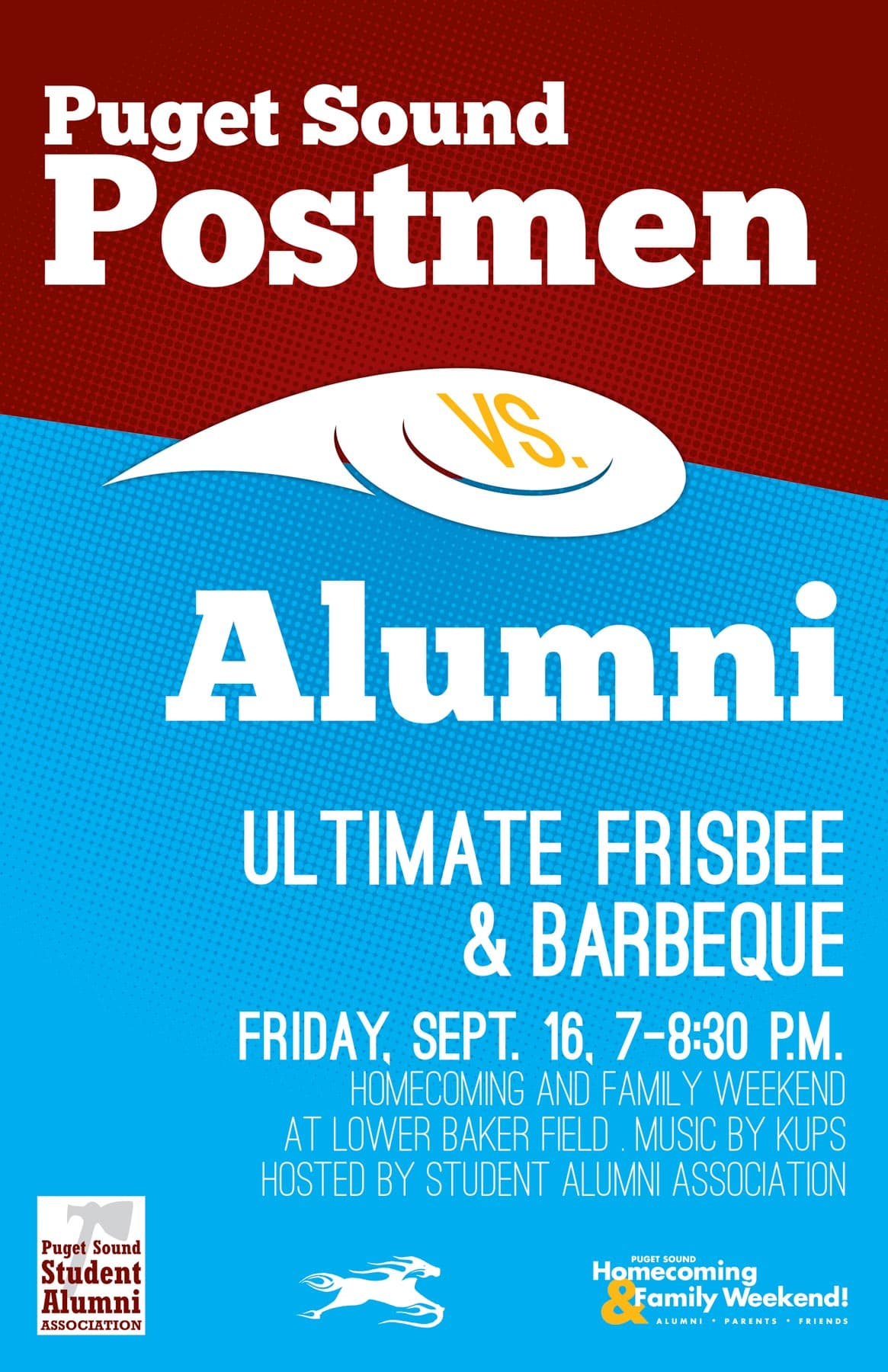 Ultimate Frisbee & BBQ Poster
