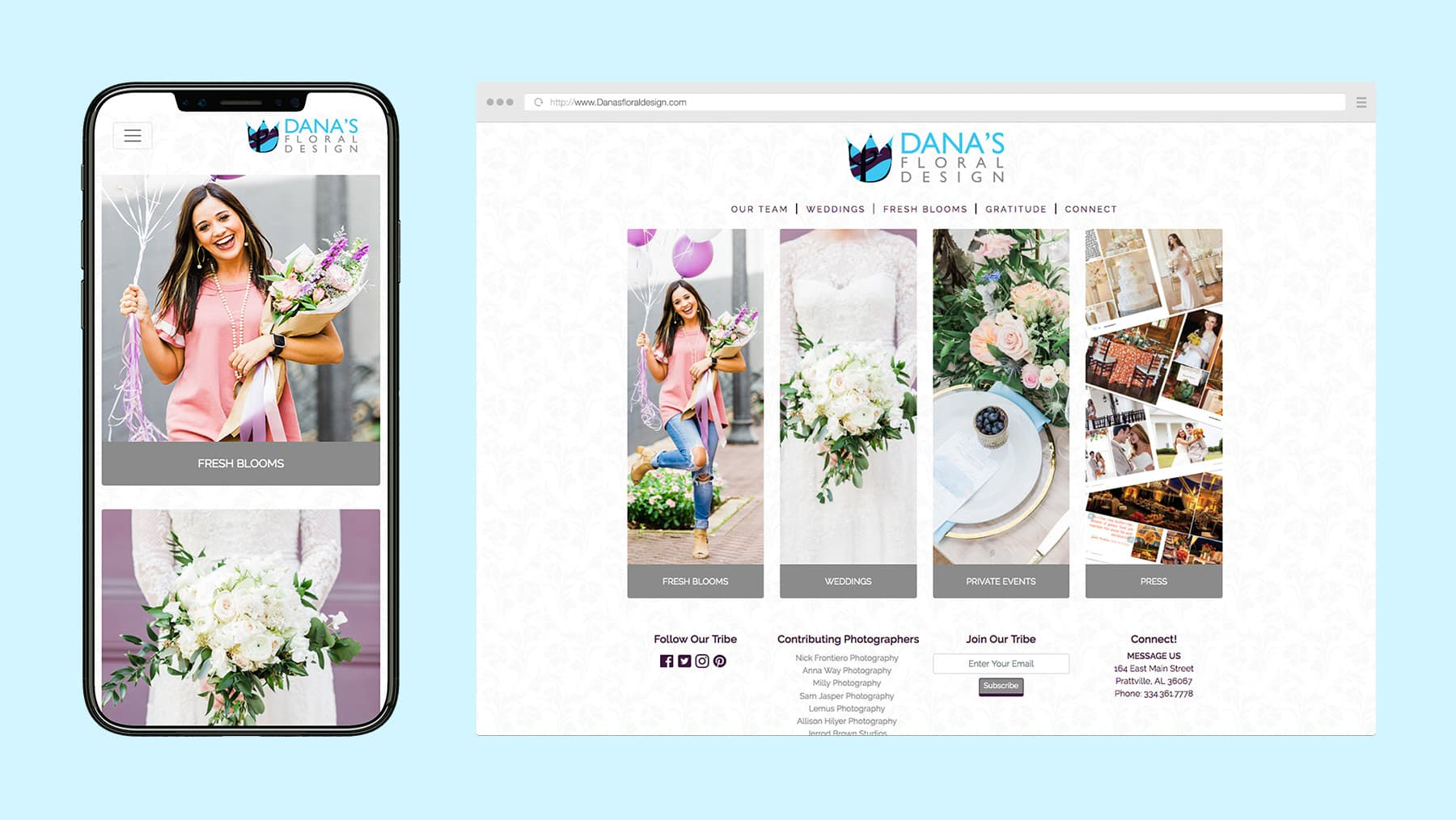 Dana's Floral Design Website